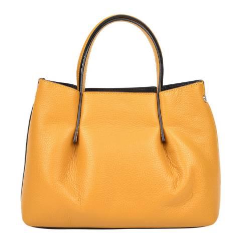 Renata Corsi Yellow Leather Handbag
