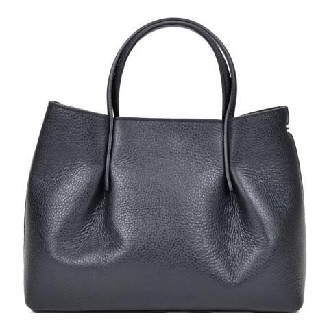 Renata Corsi Black Leather Handbag