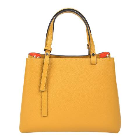 Renata Corsi Yellow Leather Handbag