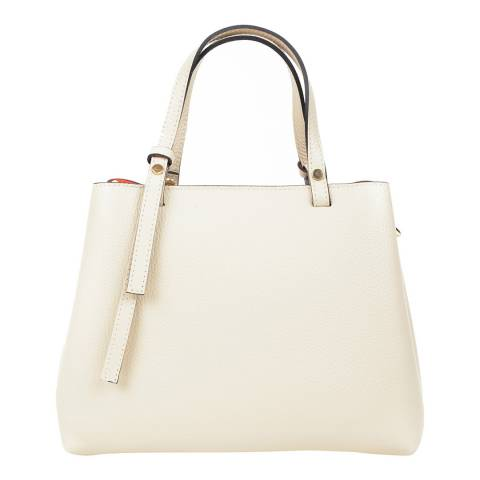 Renata Corsi Beige Leather Handbag