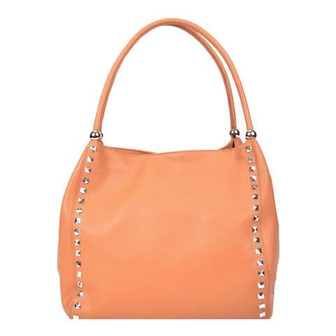 Renata Corsi Orange Leather Tote Bag