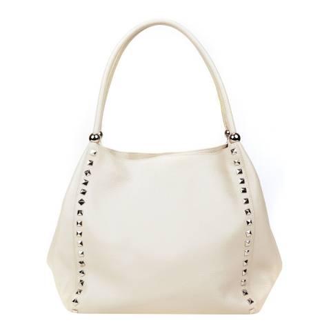 Renata Corsi Beige Leather Tote Bag
