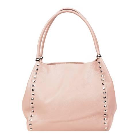 Renata Corsi Light Pink Leather Tote Bag
