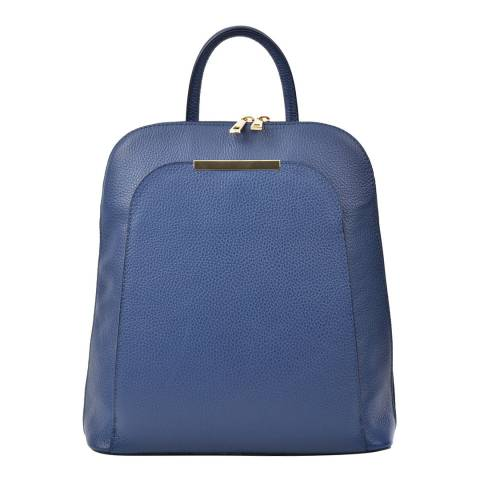Renata Corsi Blue Leather Backpack