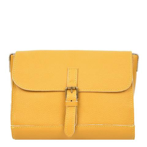 Renata Corsi Yellow Leather Crossbody Bag