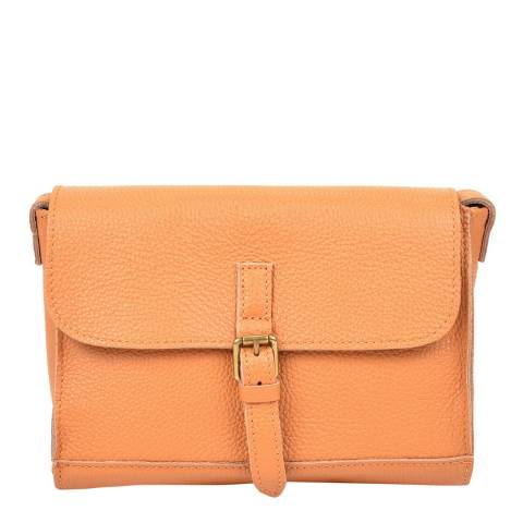 Renata Corsi Orange Leather Crossbody Bag<