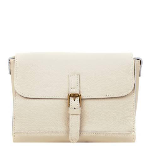 Renata Corsi Beige Leather Crossbody Bag