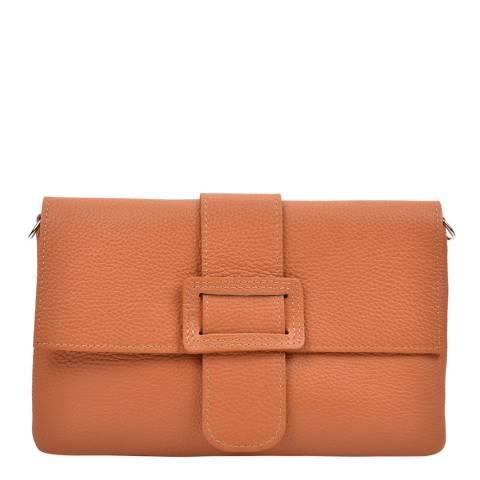 Renata Corsi Cognac Leather Crossbody Bag