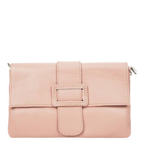Renata Corsi Light Pink Leather Crossbody Bag