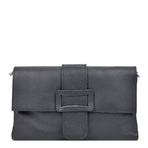 Renata Corsi Black Leather Crossbody Bag