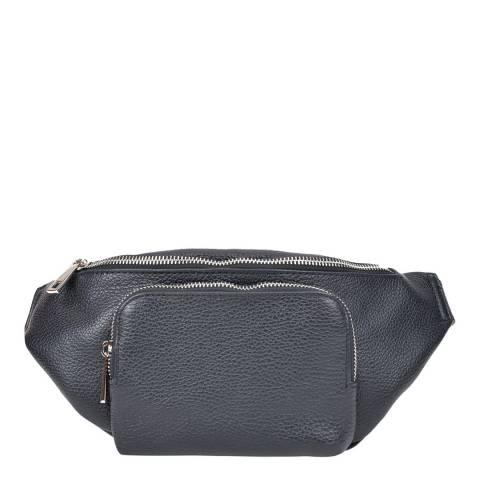 Renata Corsi Black Leather Waist Bag