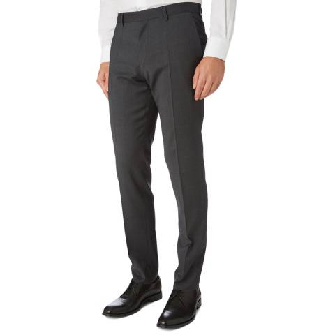 BOSS Charcoal Genius Slim Fit Trousers