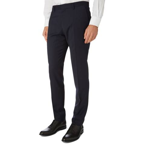 BOSS Navy Genius Slim Fit Trousers