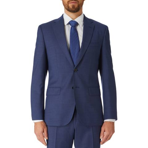 BOSS Blue Textured Johnstons Classic Fit Jacket