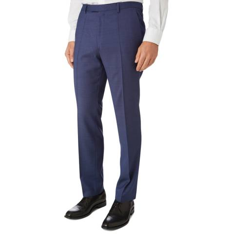 BOSS Blue Textured Lenon Classic Fit Trousers