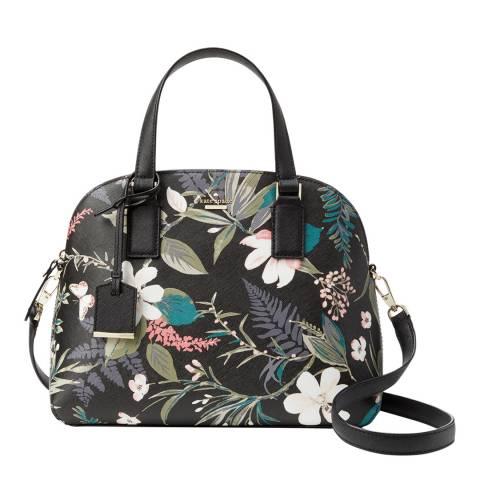 Kate Spade Black Cameron Street Botanical Lottie Bag