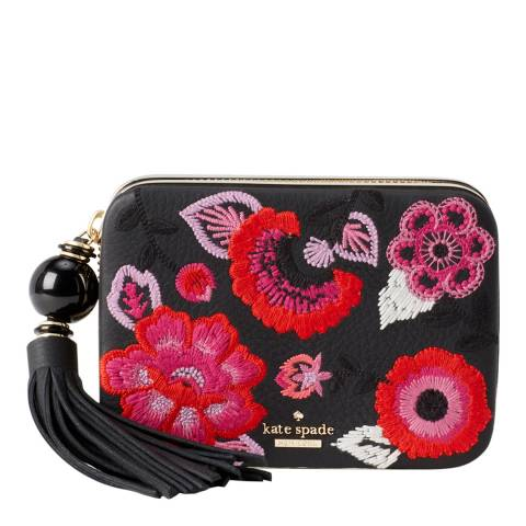 Kate Spade Black Multi Madison Wagner Way Zurie Clutch