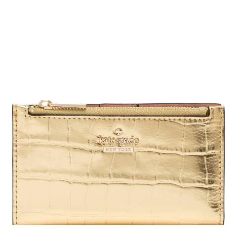 Kate Spade Warm Gold White Rock Road Wallet