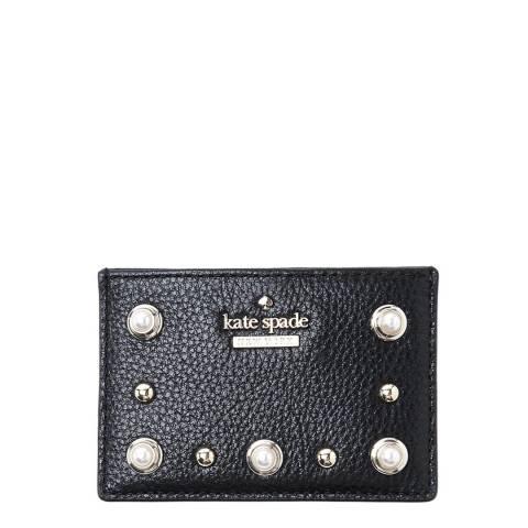Kate Spade Black Emerson Place Embellished Cardholder