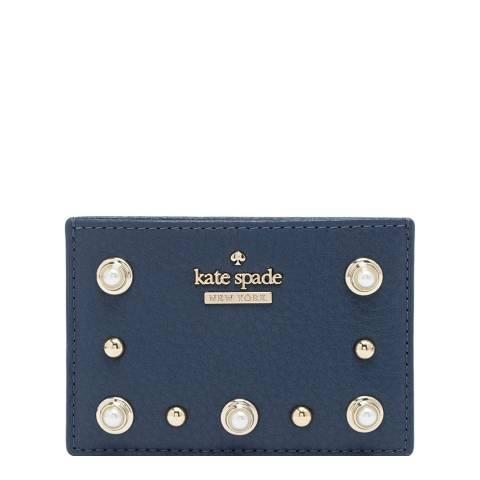 Kate Spade Denim Blue Emerson Place Embellished Cardholder