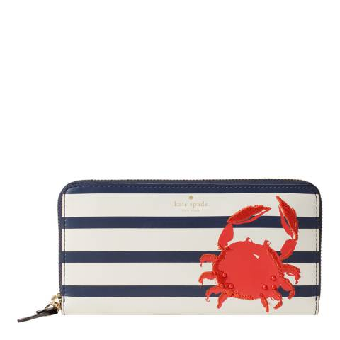 Kate Spade Multi Shore Thing Crab Lacey Wallet