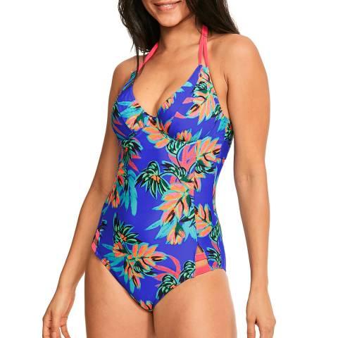 Figleaves Purple Fiji Palm Swimsuit