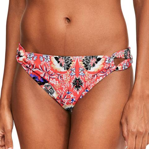 Figleaves Red Floral Salma Bikini Brief