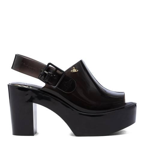 Vivienne Westwood for Melissa Black Mule Slingback Heeled Sandal