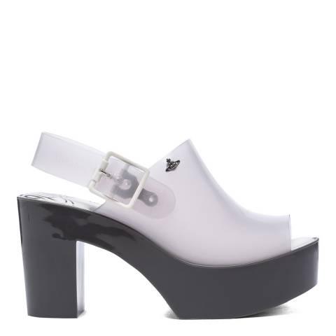 Vivienne Westwood for Melissa Clear Mule Slingback Heeled Sandal
