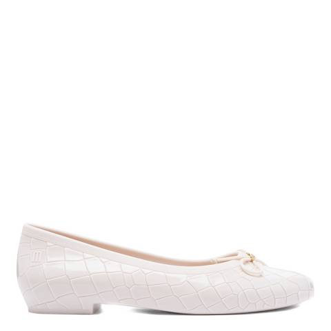 Vivienne Westwood for Melissa Cream Margot Ballerina Pump
