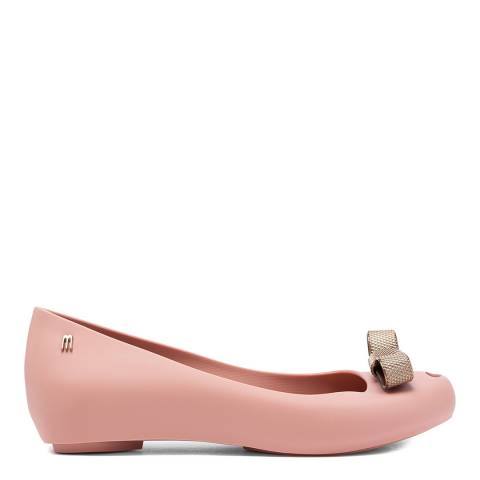 Melissa Pink Ultragirl Chrome Tie Ballet Pumps