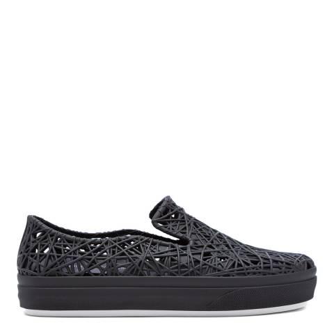 Melissa + Campana Black Matte Campana Sneakers