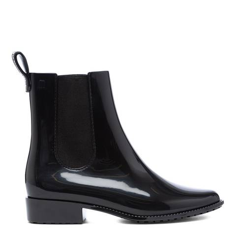 Melissa Black Gloss Riding Low Chelsea Boots