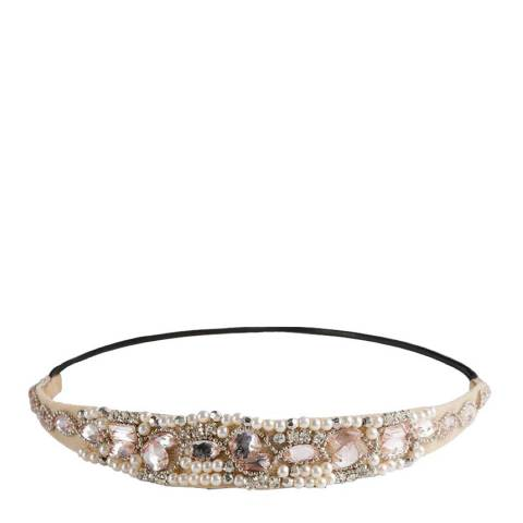 White label by Liv Oliver Champagne Pearl and Crystal Hair Band