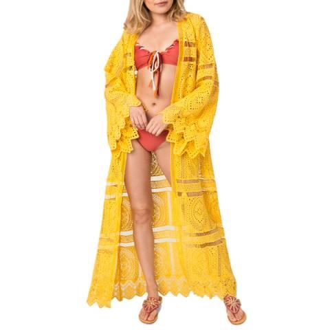Pia Rossini Yellow Pasadena Maxi Kimono