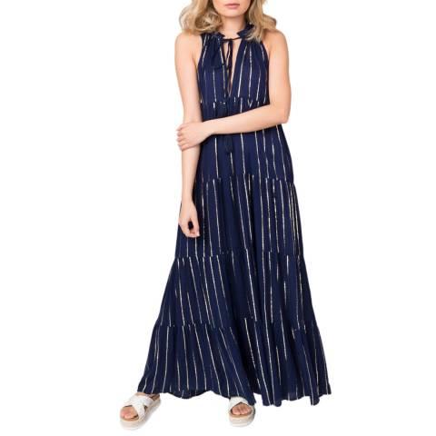 Pia Rossini Navy Gold Jasmine Maxi Dress