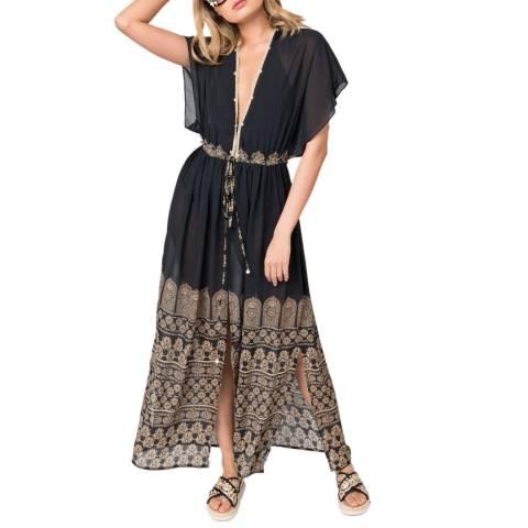 Pia Rossini Black Gold Fazia Maxi Dress