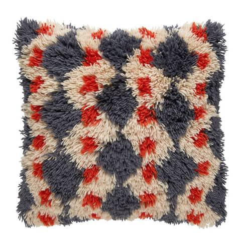 Habitat Casper Diamond Shaggy Cushion 50x50cm