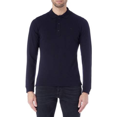 Diesel Navy Kalar Long Sleeve Polo Shirt