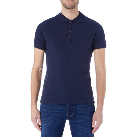 Diesel Navy T-Heal Polo Shirt