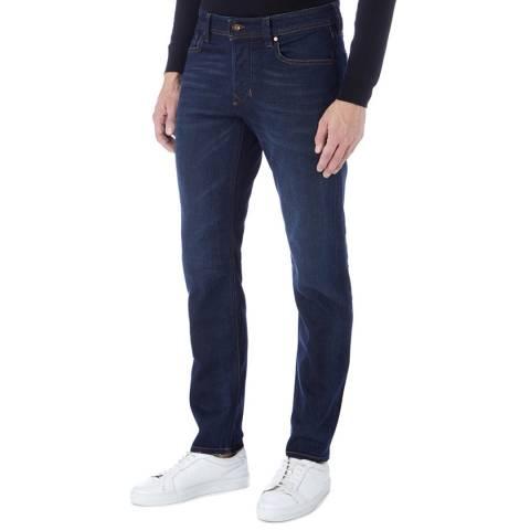 Diesel Indigo Larkee Tapered Stretch Jeans