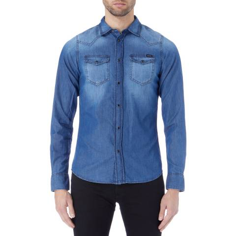 Diesel Blue Denim Sonora Shirt