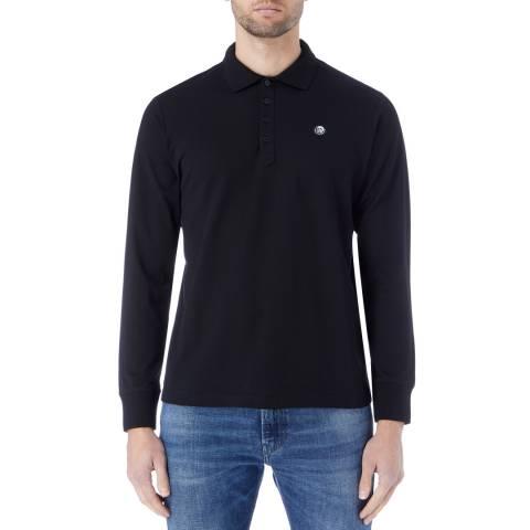 Diesel Black Weet Long Sleeve Polo Shirt