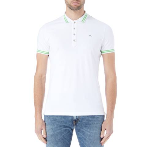 Diesel White/Green Randy Polo Shirt