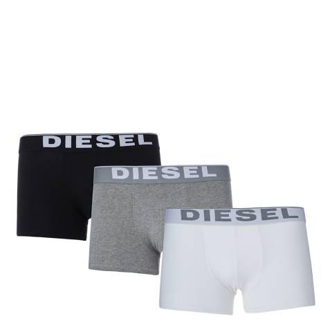 Diesel White Multi Kory Three Pack Boxers