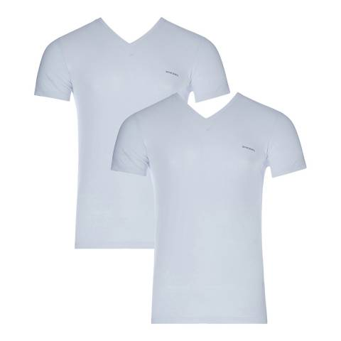 Diesel White Michael Two Pack T-Shirt