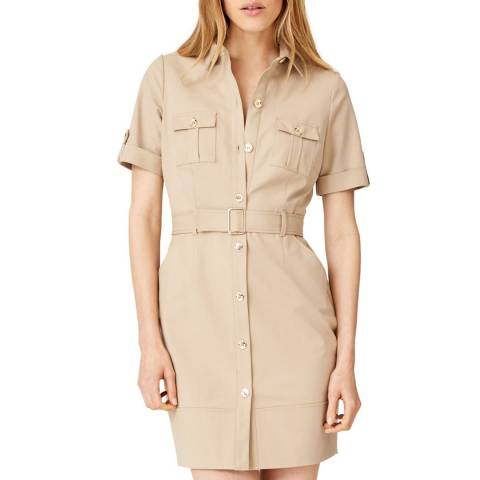 Damsel In A Dress Beige Fia Safari Dress