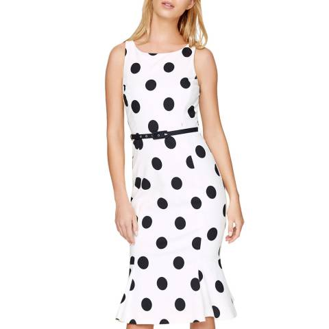 Damsel In A Dress Ivory Lillia Spot Print Dress