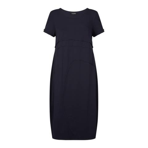 James Lakeland Navy Cotton Midi Dress