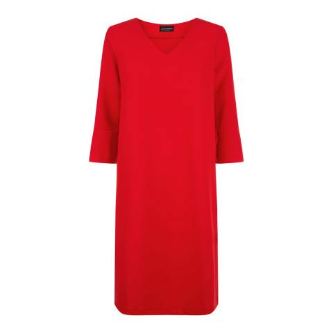 James Lakeland Red Ruffle Cuff Dress